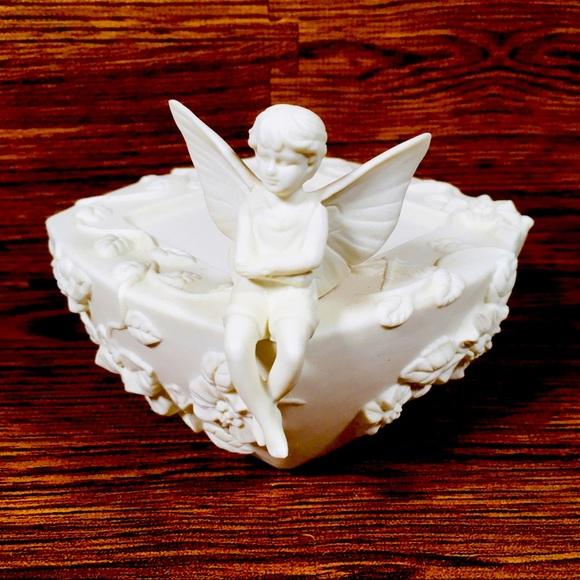 PartyLite Fairy Boy Pillar Candle Holder